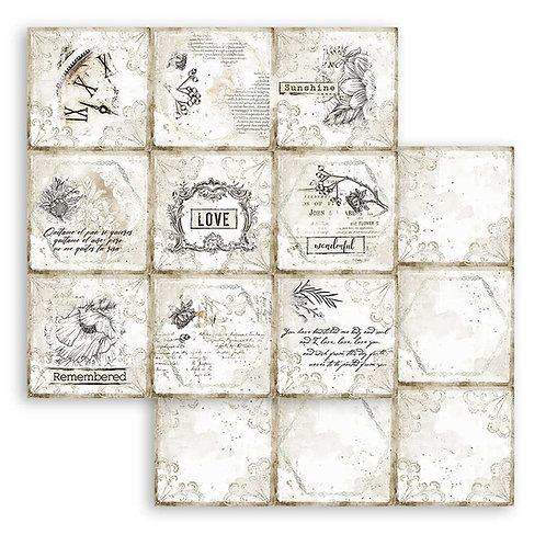 PRE ORDER - Stamperia - Journal - Cards - 2 - 12x12 Single Sheets