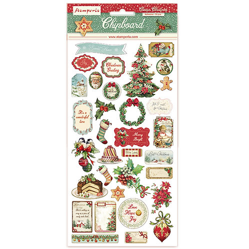 Stamperia-Classic Christmas-Adhesive Chipboard