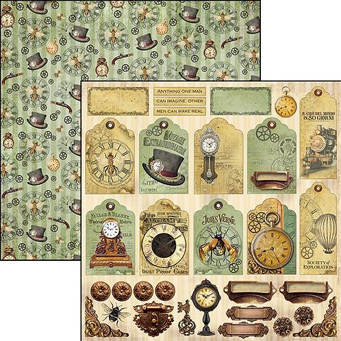Ciao Bella-Verne Tags & Deco - 2 - 12x12 Single Sheets-Item #CBSS075