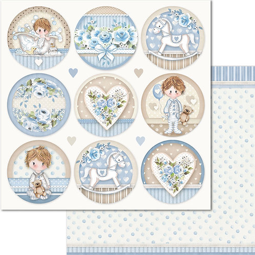 Stamperia-Little Boy Rounds - 2 - 12x12 Single Sheets-Item #SBB685