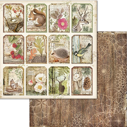 Stamperia-Forest Tags - 2 - 12x12 Single Sheets-Item #SBB660