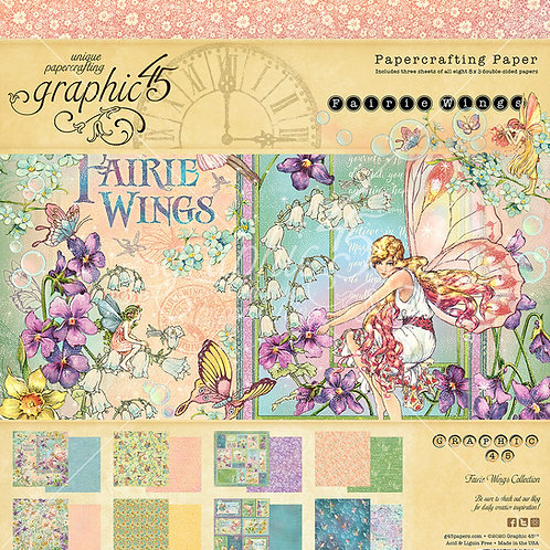 Graphic 45-Fairie Wings-8x8 Paper Pad