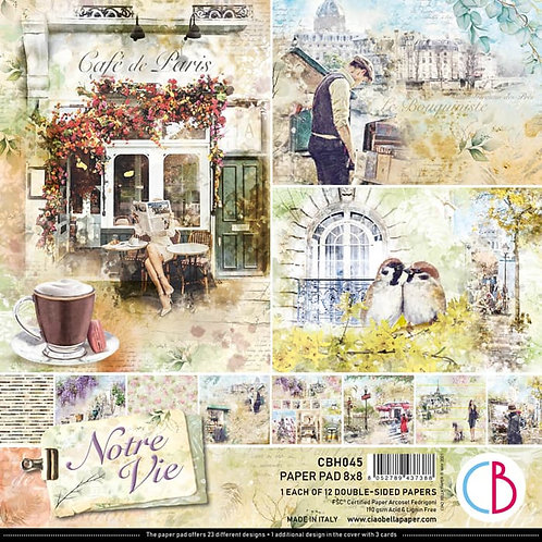 Ciao Bella - Notre Vie - 12 - 8x8 Double-Sided Papers