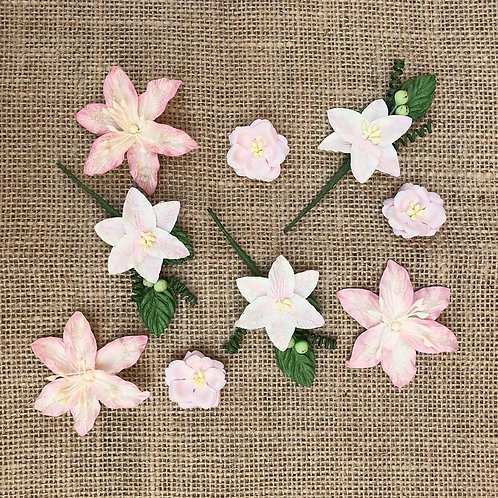 49 and Market-Stargazers Paper Flowers-Petal Pink