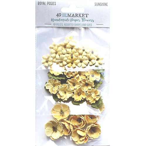 49 and Market - Royal Posies - Sunshine - 49 Pieces
