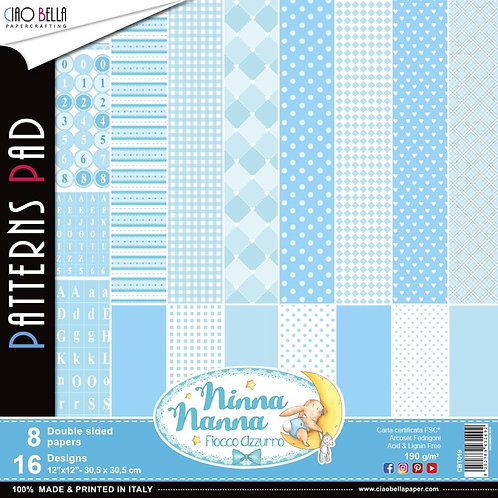 Ninna Nanna Boy by Ciao Bella-8-12x12 Double-Sided Papers-CBT019