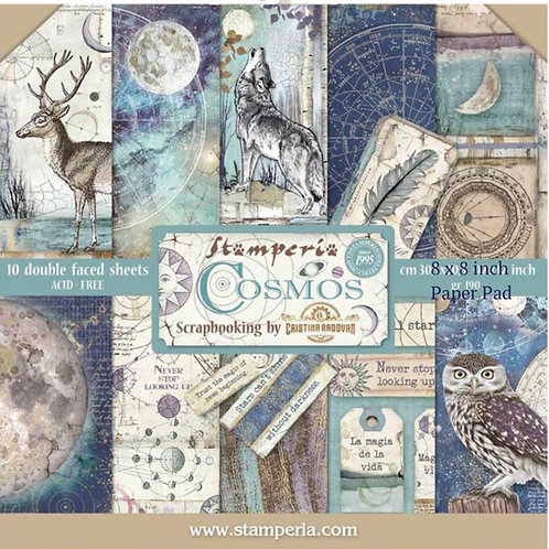 Cosmos 8x8 Paper Pack by Stamperia - 10 Double Sided Sheets-Item #SBBS11