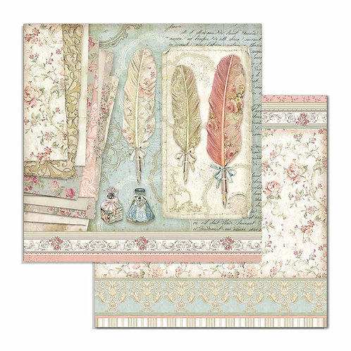 Stamperia - Princess Feathers - 2 - 12x12 Single Sheets-Item #SBB712