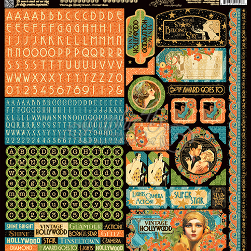 Vintage Hollywood Stickers - by Graphic 45