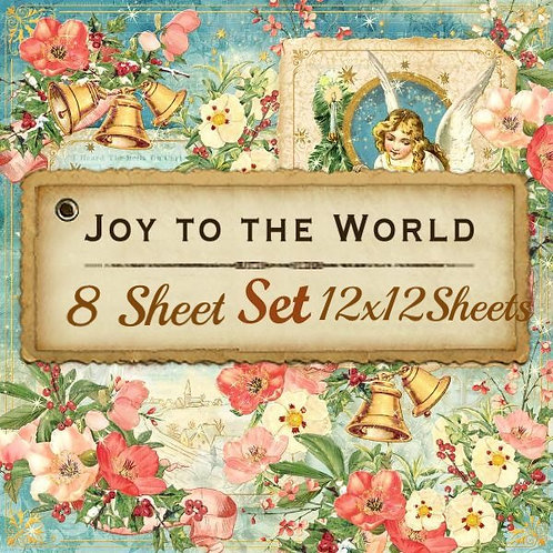 Graphic-Joy To The World-12x12 Papers-8 Single Double-Sided Sheets (No Cover)