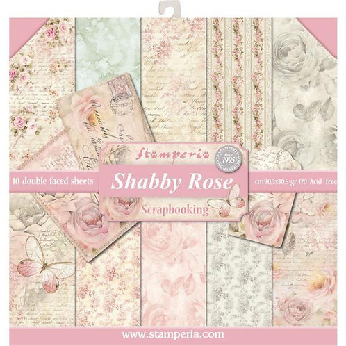 Shabby Rose by Stamperia-12x12 Paper Pack-Item #SBBL12