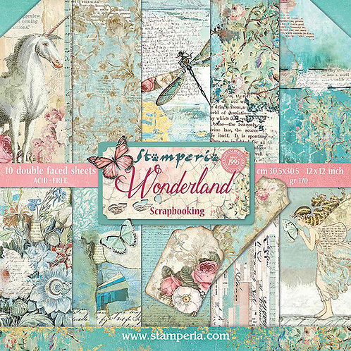 Wonderland by Stamperia - 10 - 12x12 Double-Sided Sheets