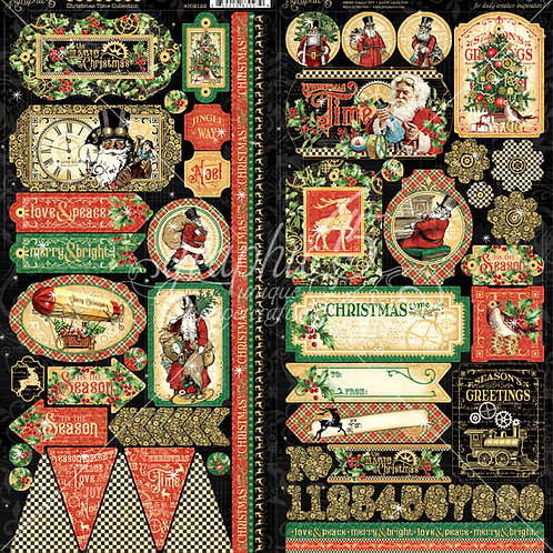 Graphic 45-Christmas Time- 2 - 6 x 12 Sticker Sheets