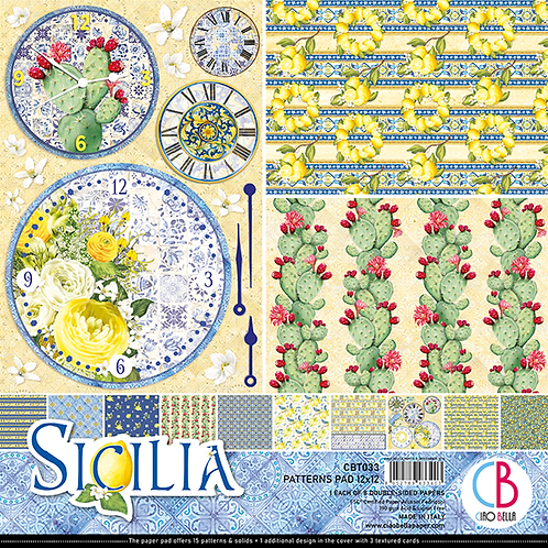 Sicilia by Ciao Bella-8-12x12 Double-Sided Papers