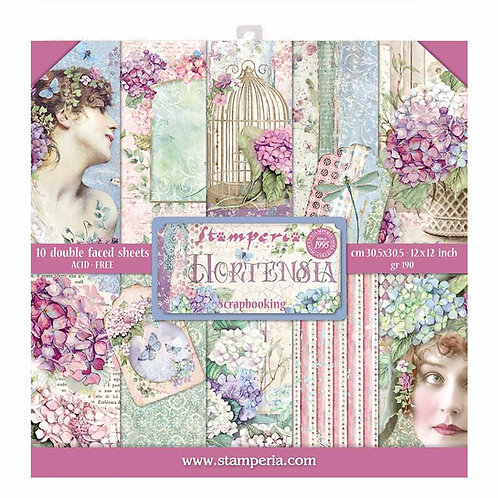 Stamperia - Hortensia - 12x12 Paper Pad - 10 Sheets - 22 Designs
