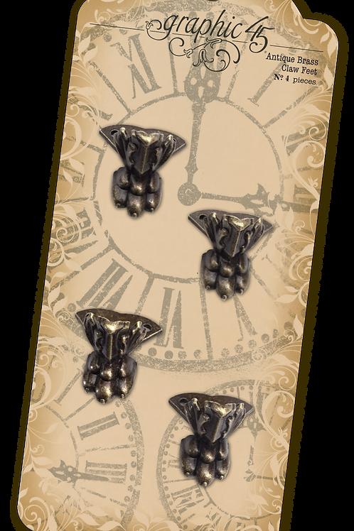 Graphic 45 - Antique Brass Claw Feet - Item #4501027