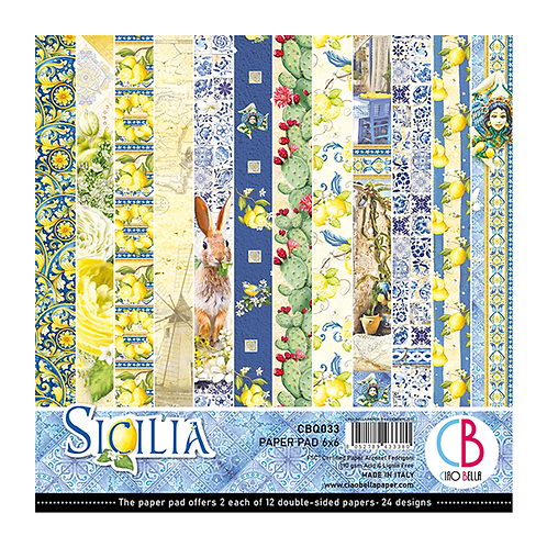 Sicilia by Ciao Bella-24 Double-Sided 6x6 Sheets