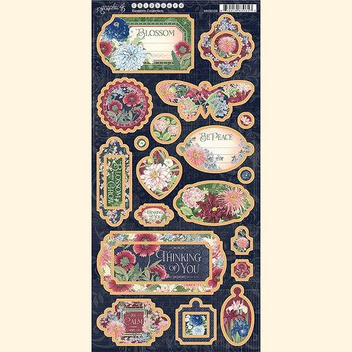 Graphic 45 - Blossom - Decorative Chipboard