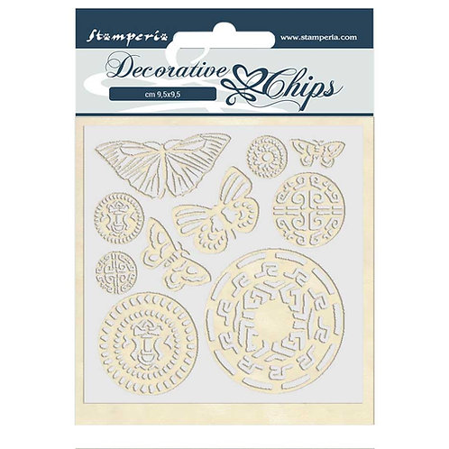Stamperia - Decorative Chips - Amazonia - Butterfly Tribal