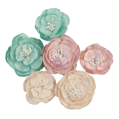 Prima - With Love - Mulberry Paper Flowers - 6 Pieces