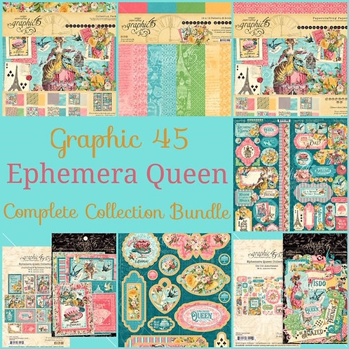 Graphic 45-Ephemera Queen-Complete Collection Bundle