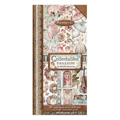 PRE ORDER - Stamperia -Passion - Collectible Sheets