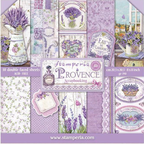 Provence 8x8 Paper Pack by Stamperia - 10 Double Sided Design Papers