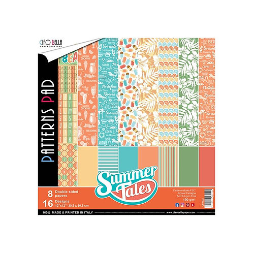Summer Tales by Ciao Bella-8-12x12 Double-Sided Papers-CBT022
