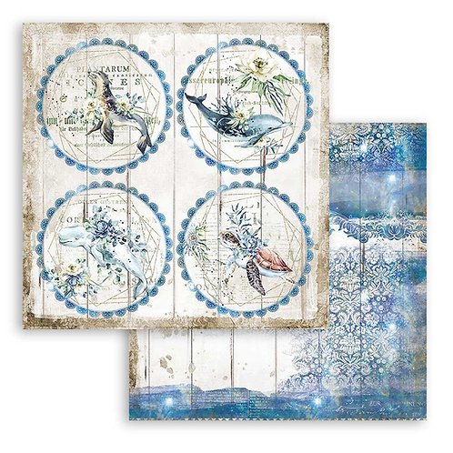 Stamperia - Sea Dream - Rounds - 2 - 12x12 Single Sheets