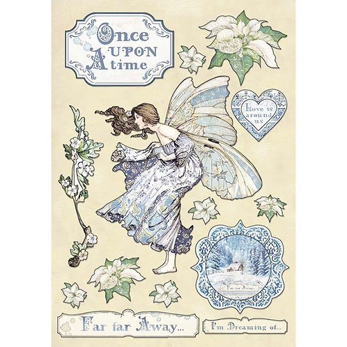 Stamperia-Winter Tales-Once Upon A Time-Wooden Shapes A5-Item #KLSP079