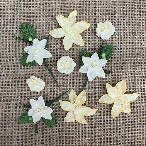 49 and Market-Stargazers Paper Flowers-Lemon Drop