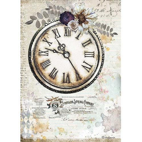 Stamperia - Journal - Clock - Rice Paper A4