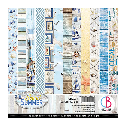 Sound of Summer by Ciao Bella-24 Double-Sided 6x6 Sheets