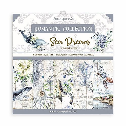 Stamperia - Sea Dream - 8x8 Paper Pad - 10 Sheets - 22 Designs