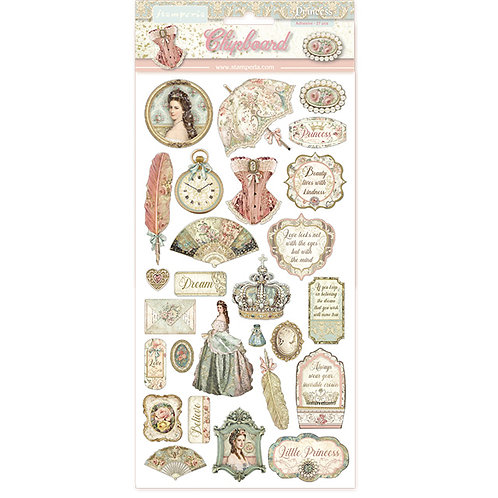 Stamperia - Princess - Adhesive Chipboard