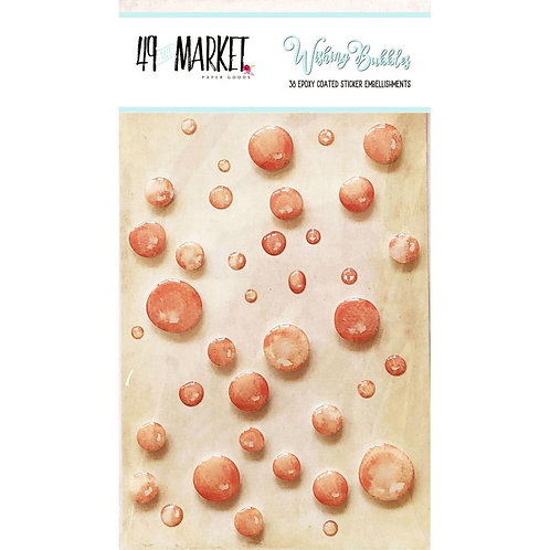 49 and Market-Wishing Bubbles-Crush-38 Epoxy Sticker Embellishments