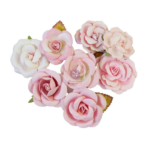 Prima - Magic Love - Pink Dreams - Mulberry Paper Flowers - 8 Pieces