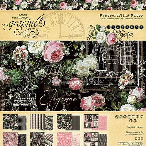 Graphic 45-Elegance-8x8 Paper Pad