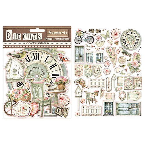 Stamperia-House of Roses-Die Cuts - 59 Chipboard Pieces