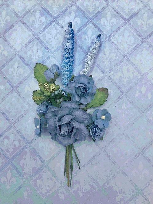 Blue Fern Blooms - Cornflower Blue