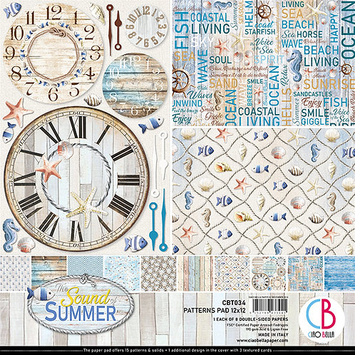 Sound of Summer by Ciao Bella-8-12x12 Double-Sided Papers-CBT034