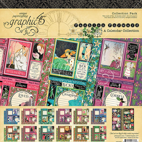 Graphic 45-Fashion Forward-12x12 Collection Pack w/Stickers