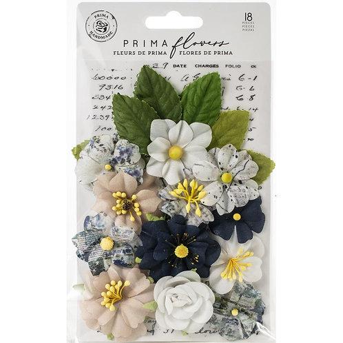 Prima - Georgia Blue - Emerson Flowers - 18 Pieces