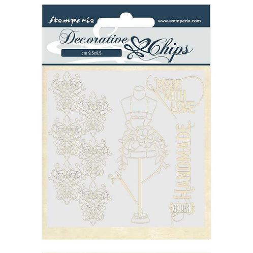 PRE ORDER - Stamperia - Decorative Chips - Threads