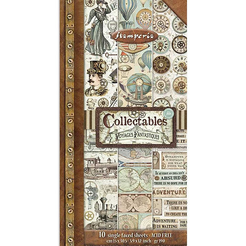 Stamperia -Voyages Fantastiques - Collectible Sheets