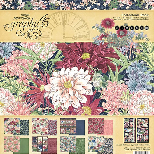 Graphic 45 - Blossom - 12x12 Collection Pack w/Stickers