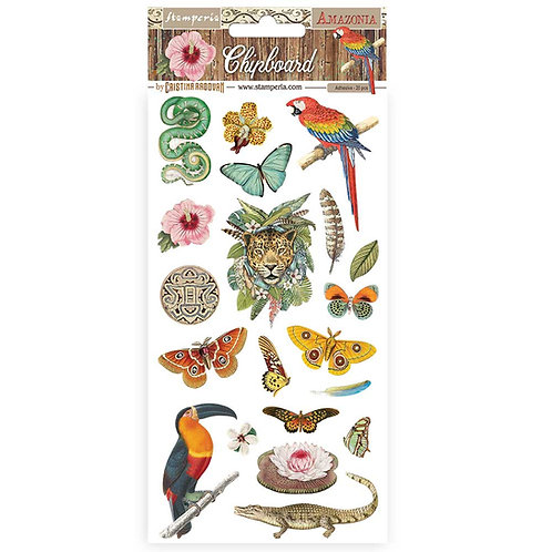 PRE ORDER - Stamperia - Amazonia - Adhesive Chipboard