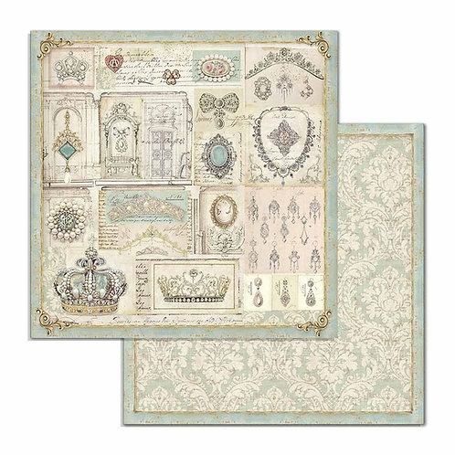 Stamperia-Princess Jewelry-2 - 12x12 Single Sheets-Item #SBB715