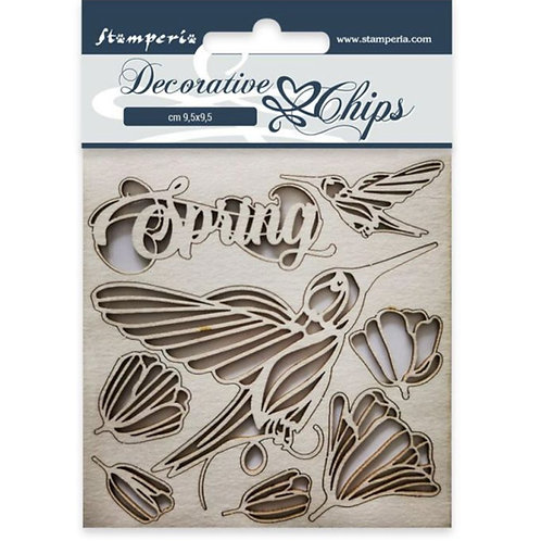 Stamperia-Decorative Chips-Spring