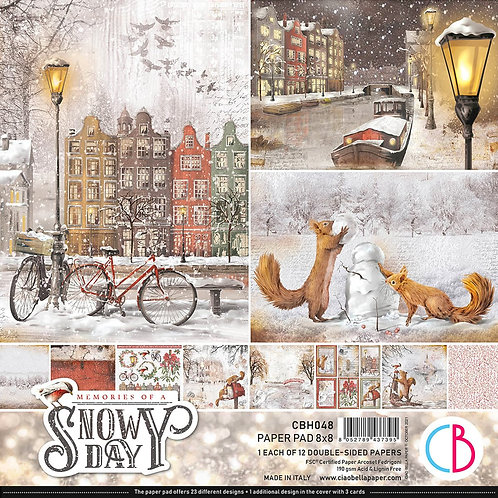 PRE ORDER Ciao Bella - Memories of a Snowy Day - 12 - 8x8 Double-Sided Papers